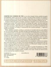Contes du chemin de fer - 4ème de couverture - Format classique