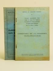 Programme des Classes préparatoires aux Grandes Ecoles Scientifiques [ On joint : ] Commentaires sur les programmes fixés par l'arrêté du 27 juin 1956 - Couverture - Format classique