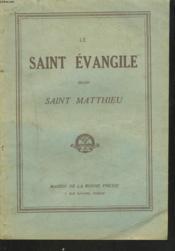 Le Saint Evangile Selon Matthieu - Couverture - Format classique