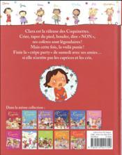 Clara, la râleuse des Coquinettes - 4ème de couverture - Format classique