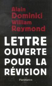 Lettre Ouverte Pour La Revision - Intérieur - Format classique