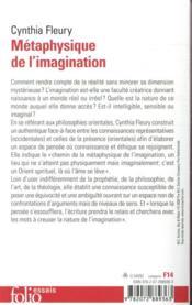 Métaphysique de l'imagination - 4ème de couverture - Format classique