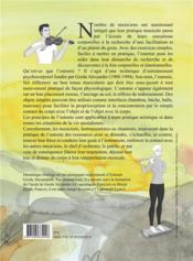 Acccorder son corps ; l'eutonie pour les musiciens et les chanteurs - 4ème de couverture - Format classique