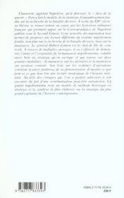 La guerre napoleonienne-les systemes d'operations. theorie et technique - 4ème de couverture - Format classique