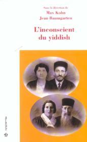 L'inconscient du yiddish - Couverture - Format classique
