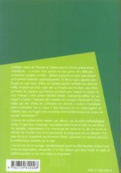 L'homme et l'animal la fontaine fables condillac traite des animaux kafka la metamorphose - 4ème de couverture - Format classique