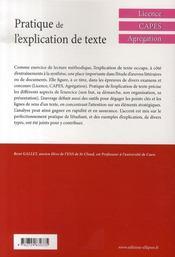 Pratique de l'explication de texte en anglais - 4ème de couverture - Format classique