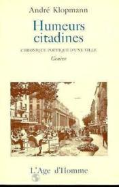 Humeurs Citadines - Couverture - Format classique
