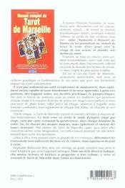 Manuel Complet Du Tarot De Marseille - 4ème de couverture - Format classique