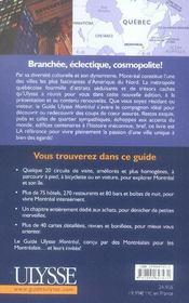 Montreal (10e Edition - 4ème de couverture - Format classique