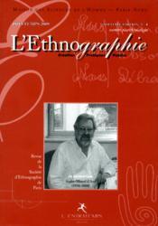Ethnographie n 4 (creation) - Couverture - Format classique