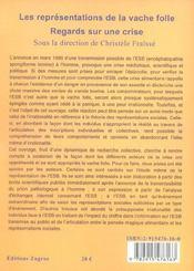 Regard Sur Une Crise ; Les Representations De La Vache Folle - 4ème de couverture - Format classique