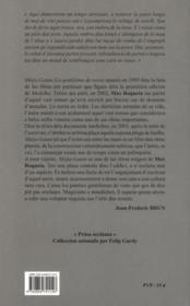 Mièja-Gauta ; o lo gentilòme de veire - 4ème de couverture - Format classique