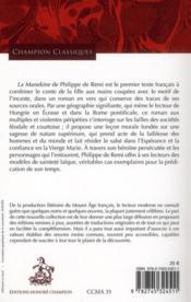 La Manekine - 4ème de couverture - Format classique