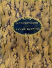 Le Champ D'Oliviers - Couverture - Format classique