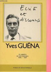 Ecrits Et Discours, 25 Annees De Vie Publique 1962/1987 - Couverture - Format classique