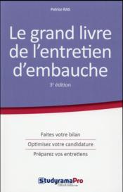 Le grand livre de l'entretien d'embauche (3e édition) - Couverture - Format classique