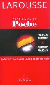 Dictionnaire de poche francais-allemand / allemand-francais - Intérieur - Format classique