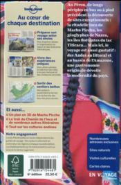 Pérou (6e édition) - 4ème de couverture - Format classique