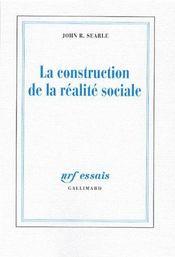 La construction de la réalité sociale - Couverture - Format classique