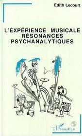 L'Experience Musicale Resonances Psychanalytiques - Intérieur - Format classique