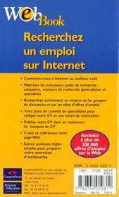 Webbook Recherche D'Emploi Sur Internet - 4ème de couverture - Format classique