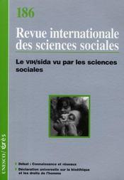 Riss N.186 ; Riss T.186 ; Le Vih/Sida Vu Par Les Sciences - Intérieur - Format classique