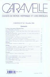 La France Et Les Cinemas D'Amerique Latine Revue Caravelle N83 - 4ème de couverture - Format classique