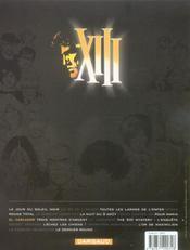 XIII T.10 ; XIII t.10 ; el cascador - 4ème de couverture - Format classique