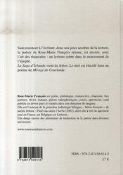 La saga d'îchanâs - 4ème de couverture - Format classique