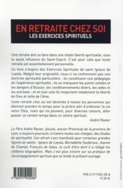 En retraite chez soi ; les exercices spirituels - 4ème de couverture - Format classique
