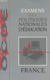 Examens des pol. nat.../france - Couverture - Format classique