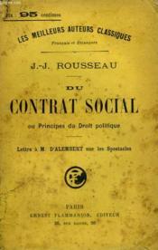 Du Contrat Social Ou Principes Du Droit Politique. - Couverture - Format classique