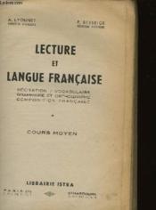Lecture Et Langue Francaise - Cours Moyen - Couverture - Format classique