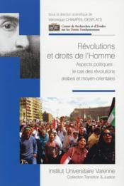 Révolutions et droits de l'homme ; aspects politiques : le cas des révolutions arabes et moyen-orientales - Couverture - Format classique
