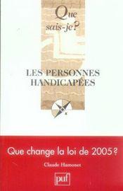 Les personnes handicapees 5eme edition qsj 2556 - Intérieur - Format classique