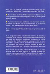 3 Semaines De Mathematiques Pour Bien Demarrer Sa Prepa Scientifique - 4ème de couverture - Format classique