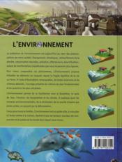 L'environnement ; comprendre le fragile équilibre de la vie sur terre - 4ème de couverture - Format classique