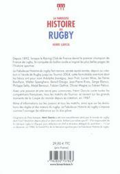 Fabuleuse Histoire Du Rugby - 4ème de couverture - Format classique
