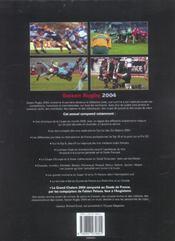 Saison rugby 2004 - 4ème de couverture - Format classique