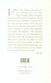 Adoration De Nona - 4ème de couverture - Format classique