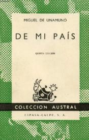 De Mi Pais, Colección Austral, N° 336 - Couverture - Format classique