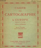 Cahier De Cartographie - L'Europe (Moins La France) - Couverture - Format classique