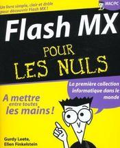 Flash Mx Pour Les Nuls - Intérieur - Format classique