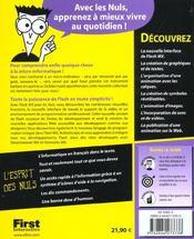 Flash Mx Pour Les Nuls - 4ème de couverture - Format classique