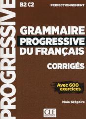 FLE ; grammaire progressive du français ; niveau perfectionnement ; B2 ; C2 (édition 2019) - Couverture - Format classique