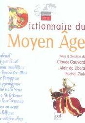 Dictionnaire du Moyen-âge - Intérieur - Format classique