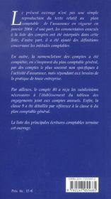 Le plan comptable des assurances (2e édition) - 4ème de couverture - Format classique