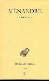 Dyscolos lettres t.1 ; 2e partie - Couverture - Format classique