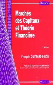 Marches des capitaux et theorie financiere ; 3e edition - Intérieur - Format classique